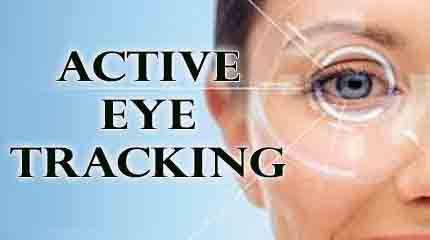 Active eye tracking during LASIK surgery on a patient.