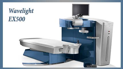 The newest laser available in the U.S. the Wavelight EX500 excimer laser.